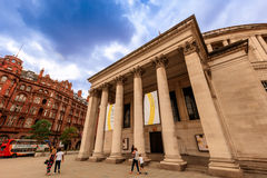 Manchester Central Library, UK. MANCHESTER, UK - AUGUST 9, 2015: Manchester Central Library is the headquarters of the city's library and information service in Royalty Free Stock Image