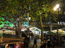 Manchester Christmas Market by night, England Stock Image