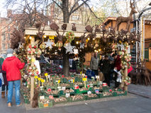 Stall on Manchester Xmas Market Royalty Free Stock Image