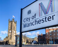 Manchester City Cathedral,England UK Stock Images