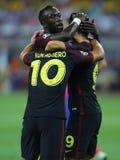Manchester City, celebração do objetivo Foto de Stock