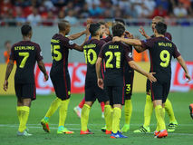 Manchester City, celebración de la meta