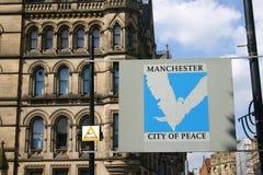 Manchester City centra o sinal fotografia de stock royalty free