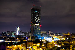Manchester City Centre in the evening. Stock Images