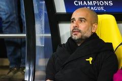 Manchester City F C Cheftrainer Pep Guardiola Lizenzfreies Stockfoto