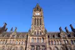 Manchester City Hall Stockbild