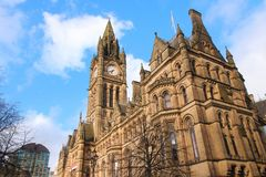 Manchester City Hall Royaltyfria Bilder