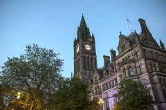 Manchester City Hall. Manchester town hall by night Royalty Free Stock Image