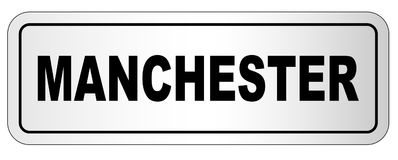 Manchester City Nameplate Royalty Free Stock Photos
