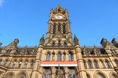 Manchester. City in North West England (UK). City Hall stock photos