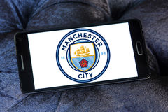 Manchester city soccer club logo Stock Image