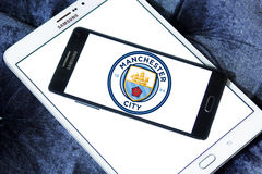 Manchester city soccer club logo Stock Photo