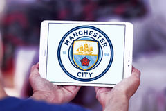 Manchester city soccer club logo Royalty Free Stock Photo