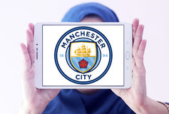 Manchester city soccer club logo Stock Photography