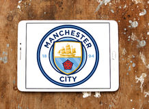 Manchester city soccer club logo Royalty Free Stock Image