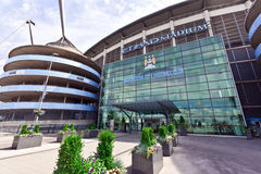 Manchester City stadium. MANCHESTER, UK - JULY 6, 2014: Etihad stadium is home to Manchester City English Premier League football club, one of the most Stock Photography