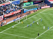Manchester City vs Chelsea. Image from the friendly between Manchester City and Chelsea, May 25, 2013 Stock Images