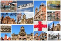 Manchester collage Arkivbilder