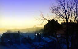 Manchester Dawn. In winter Stock Photo