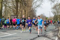 GREATER MANCHESTER MARATHON in Manchester, UK royalty free stock photos