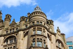Manchester, England. Manchester - city in North West England (UK). Old apartment building Royalty Free Stock Images