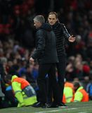 Manchester United v Paris Saint-Germain - UEFA Champions League Round of 16: First Leg. MANCHESTER, ENGLAND - FEBRUARY 12 2019: Ole Gunnar Solskjaer Manager of royalty free stock images
