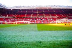 MANCHESTER ENGLAND: Gammal Trafford stadion Arkivbild