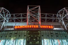 MANCHESTER, ENGLAND - September 29, 2017: Stadium Old Trafford w royalty free stock image