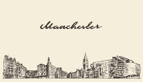 Manchester England vector illustration draw sketch Stock Photo