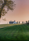 Manchester Farm Barn in the Early Morning Stock Image