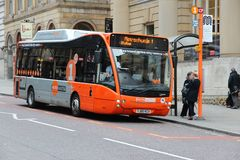 Manchester free bus Stock Photo
