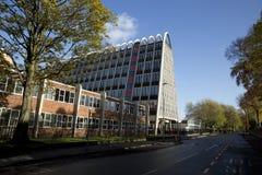 Manchester, Groter Manchester, het UK, Oktober 2013, het beroemde die gebouw als het Toostrek wordt bekend of Hollings-de Bouw royalty-vrije stock afbeelding