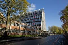 Manchester, Groter Manchester, het UK, Oktober 2013, het beroemde die gebouw als het Toostrek wordt bekend of Hollings-de Bouw royalty-vrije stock foto's