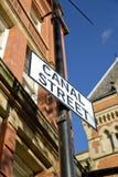 Manchester, Groter Manchester, het UK, Oktober 2013, Canal Street in het vrolijke dorp van Manchesters stock afbeelding