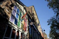 Manchester, Groter Manchester, het UK, Oktober 2013, Canal Street in het vrolijke dorp van Manchesters royalty-vrije stock fotografie