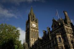 Manchester, Groter Manchester, het UK, Oktober 2013, het Stadhuis van Manchester royalty-vrije stock afbeeldingen