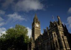 Manchester, Groter Manchester, het UK, Oktober 2013, het Stadhuis van Manchester royalty-vrije stock foto