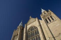 Manchester, Groter Manchester, het UK, Oktober 2013, Whitworth-de Bouw, Universiteit van Manchester stock afbeelding