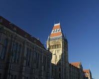 Manchester, Groter Manchester, het UK, Oktober 2013, Whitworth-de Bouw, Universiteit van Manchester royalty-vrije stock foto's