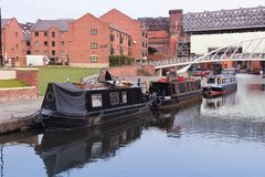 Manchester houseboats Stock Image