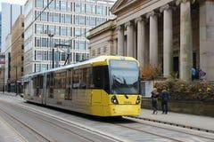 Manchester kollektivtrafik Arkivfoto