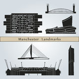 Manchester landmarks and monuments Royalty Free Stock Photo