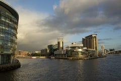 Manchester, maggior Manchester, Regno Unito, ottobre 2013, vista della galleria di arte di Lowry in Salford fotografia stock libera da diritti