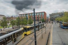 Manchester Metrolink spårvagn Arkivbilder