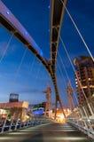 Manchester milenijnych mostu fotografia stock