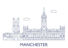 Manchester, The most famous buildings of the city Royalty Free Stock Photos