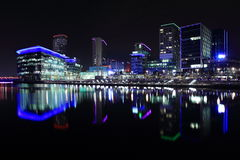 Manchester at night Royalty Free Stock Images