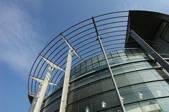 Manchester office building. Low angle view of Manchester office building against the sky Stock Photography