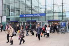 Manchester Piccadilly Stock Afbeeldingen