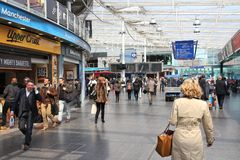 Manchester Piccadilly station stock photo